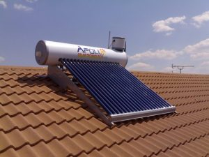 installed solar geyser with lpg backup
