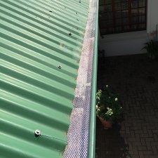 Gutter Guard Plastic Or Aluminium Mesh Fitted To Gutters