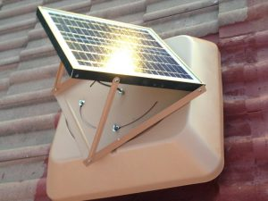 SunFan. Solar powered heat extraction system