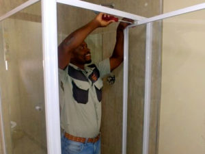 custom glass shower enclosure installation