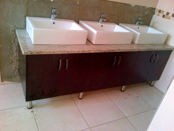 bathroom vanity and remodel by Carpenter Rats